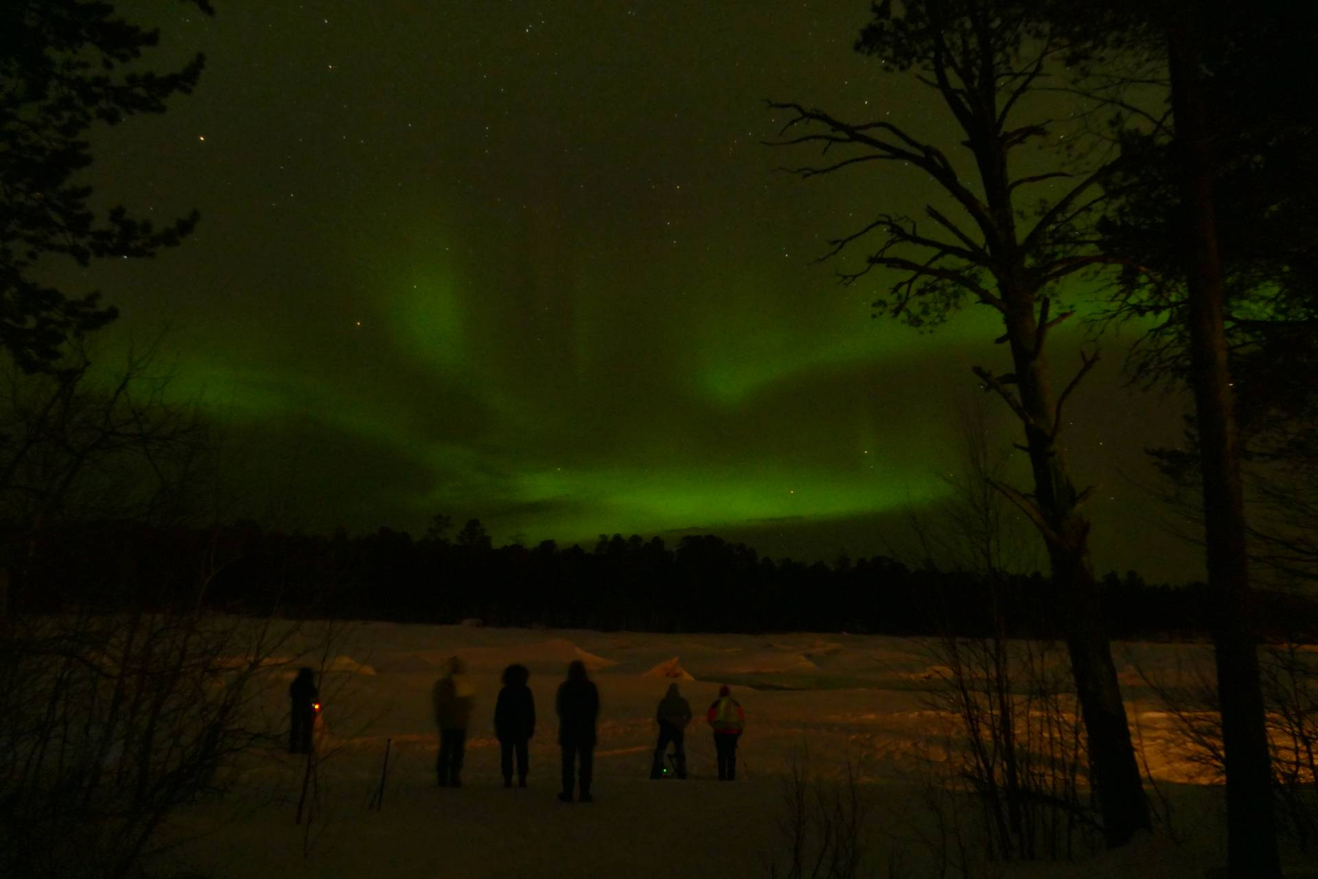 Polarlight viewing on the Lake